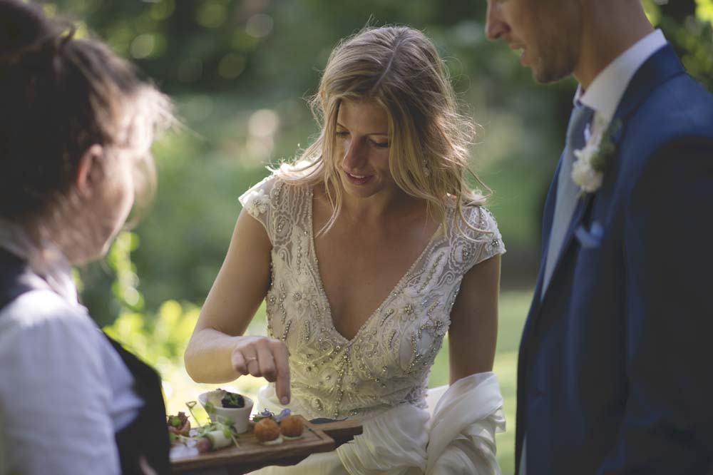 Outdoor Tipi Wedding At Busbridge Lakes With Alice Temperley Gown