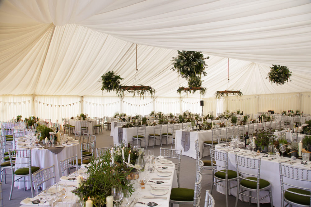 rustic marquee wedding at home in scotland thistles kilts