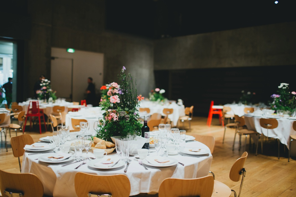 Greenery peach filled reception at nottingham contemporary with images by a junglespirit Image collections