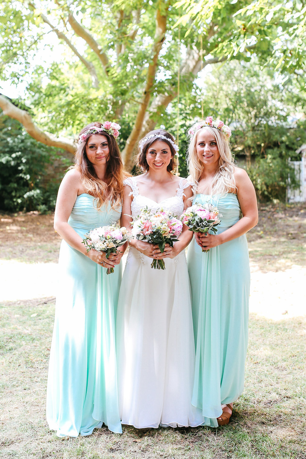 Homemade Lace Wedding Dress For A Classic Outdoor Marquee - Homemade Wedding Dress