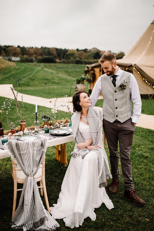 Boho Winter Tipi Wedding Inspiration By Pretty Creative Amy Faith