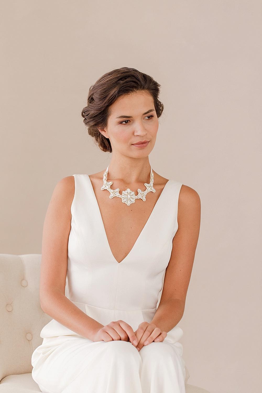 Trendy White Pearl Crystal Bride Headdress By Hand Wedding Dress Accessories White.lk