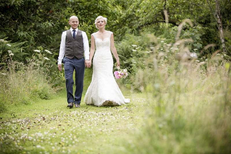A Vintage Inspired Wedding At Penpont Brecon With Bride In Lace Fishtail Gown By Mori Lee