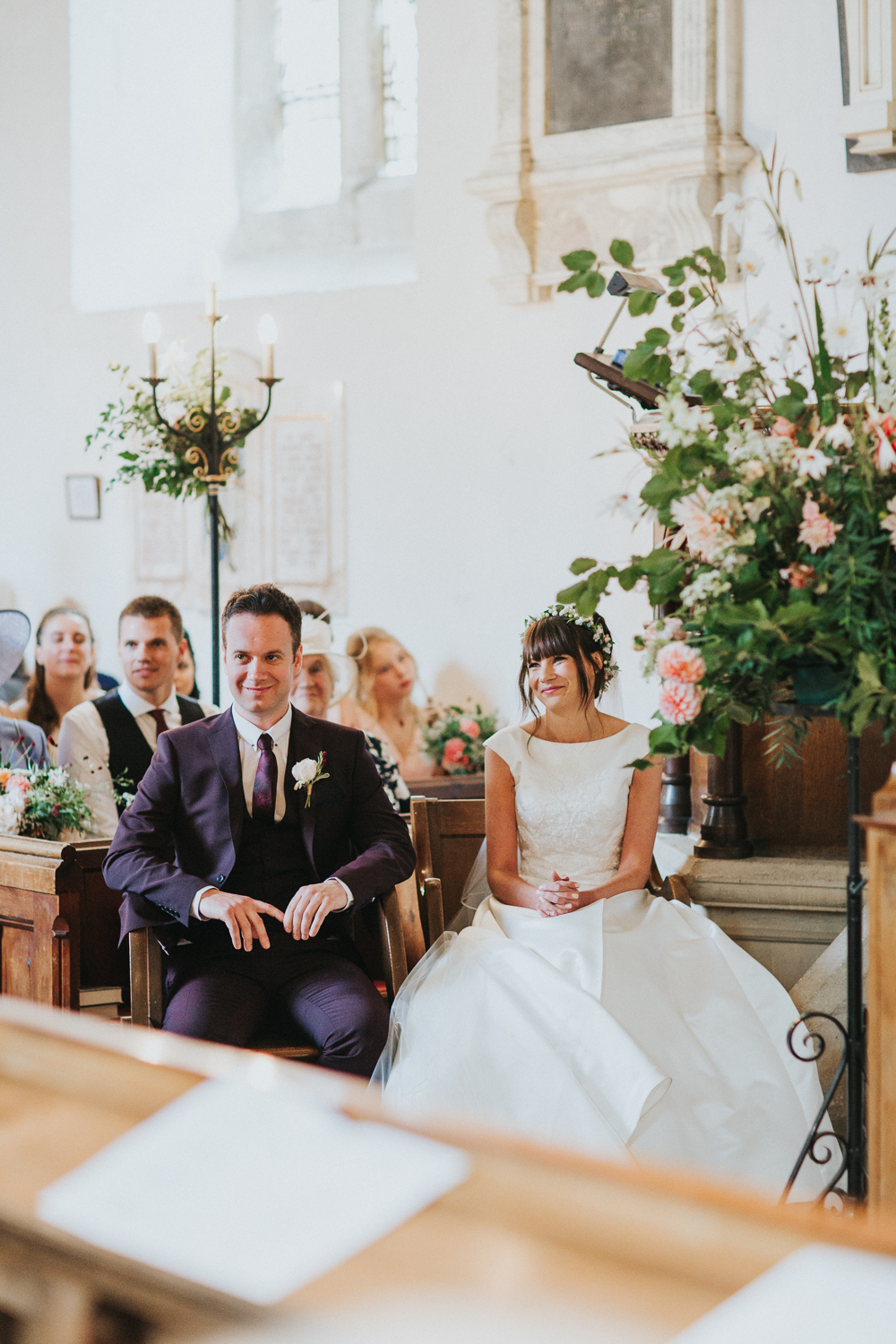 Delicate flower crown for a rustic church of england wedding delicate flower crown for a rustic church of england wedding with bride in pronovias and reception at the local pub images by kate gray photography izmirmasajfo