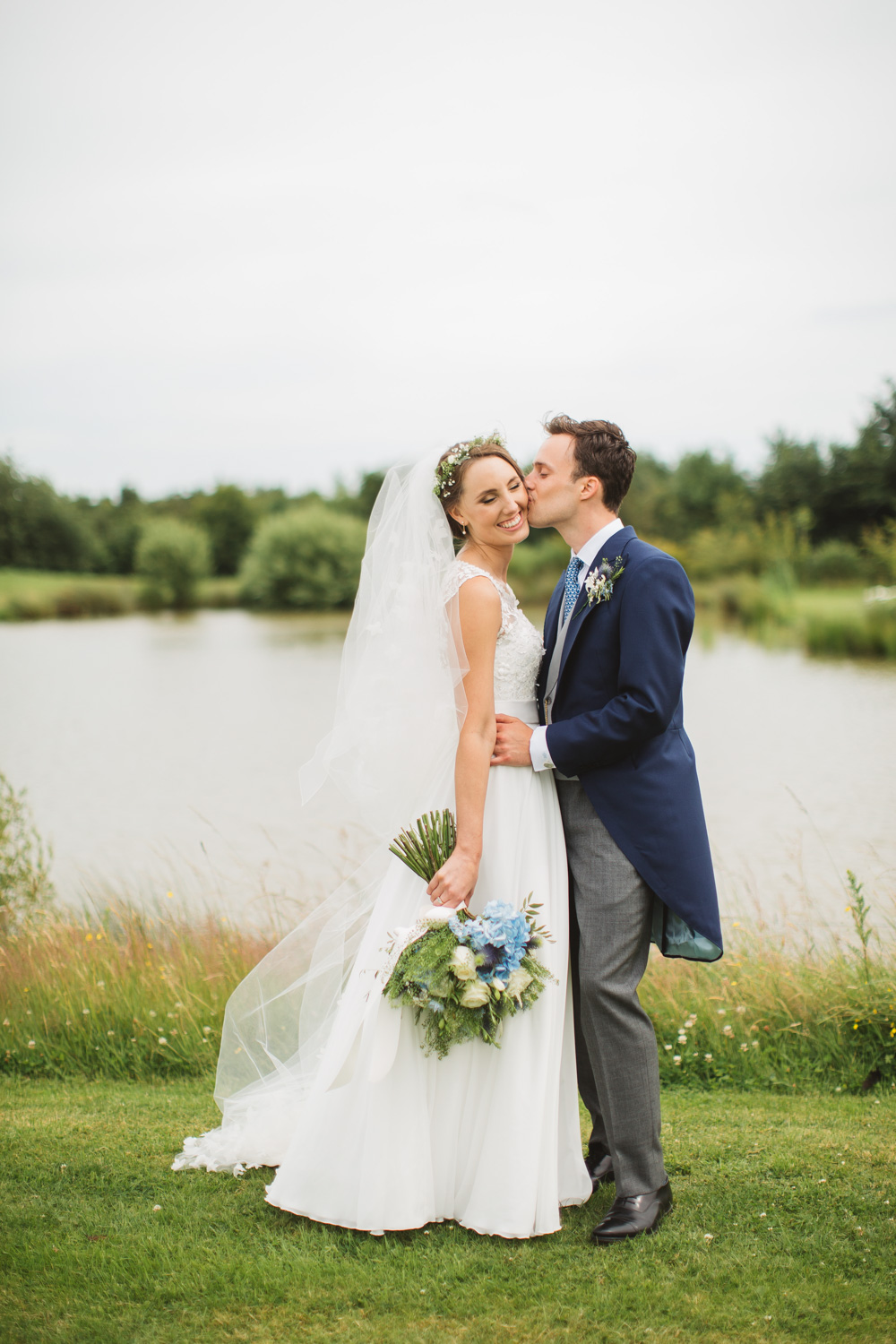 Rustic Wedding at High House Weddings in Essex with Ingrida Bridal Gown
