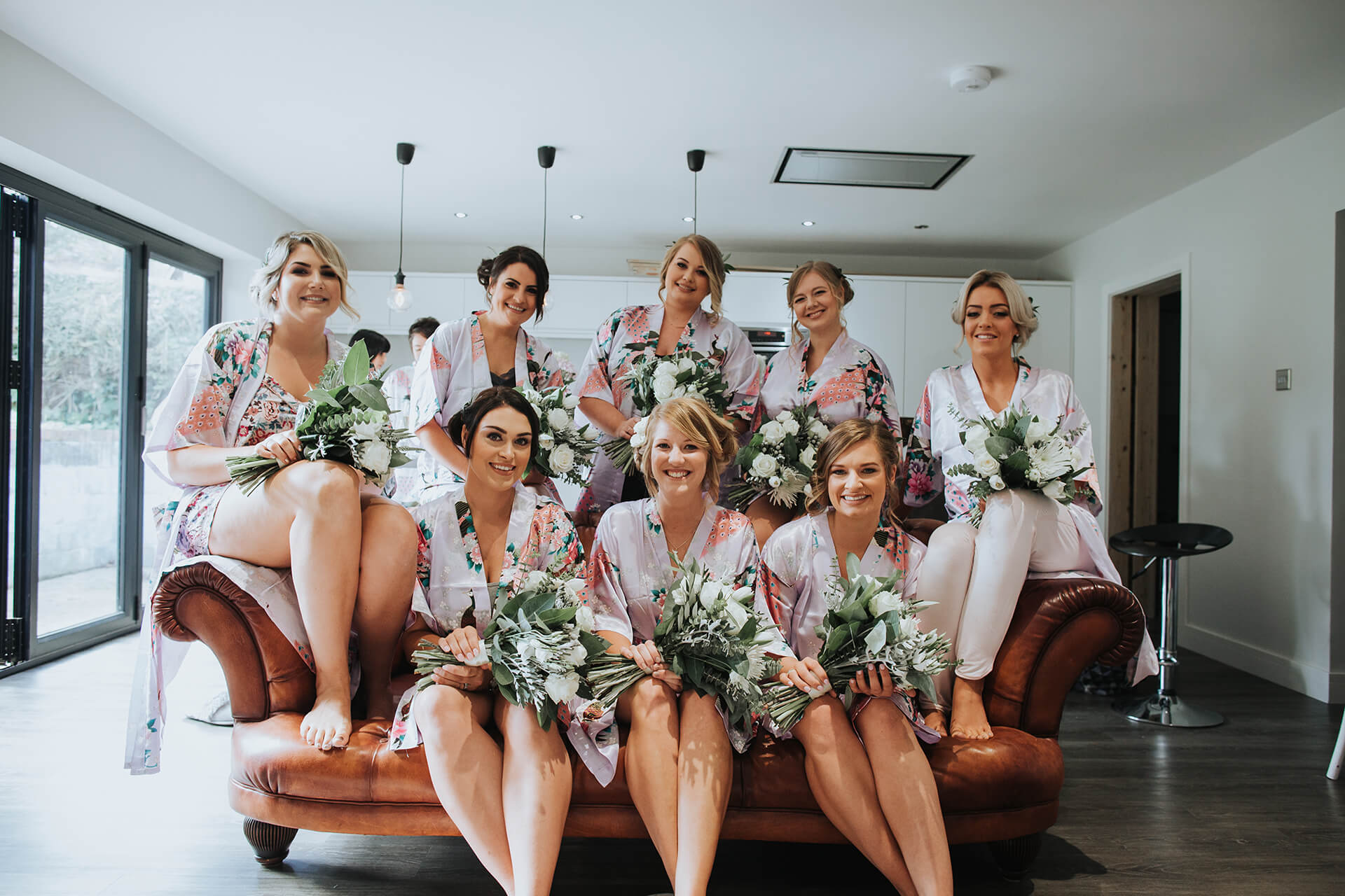 White & Green Outdoor Wedding At The Red Barn, Kent With