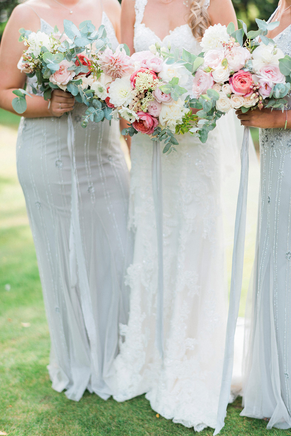 Pink Coral Country Wedding At Crabbs Barn Essex With Enzoani