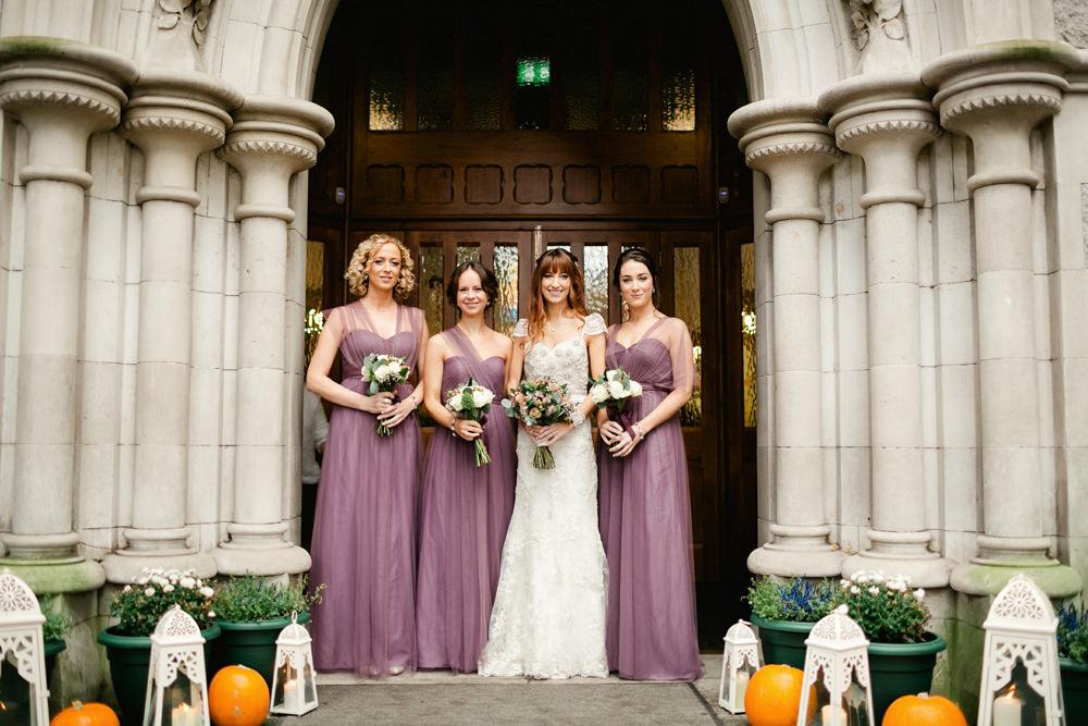 Bespoke Low Back Embellished Wedding Dress With Purple