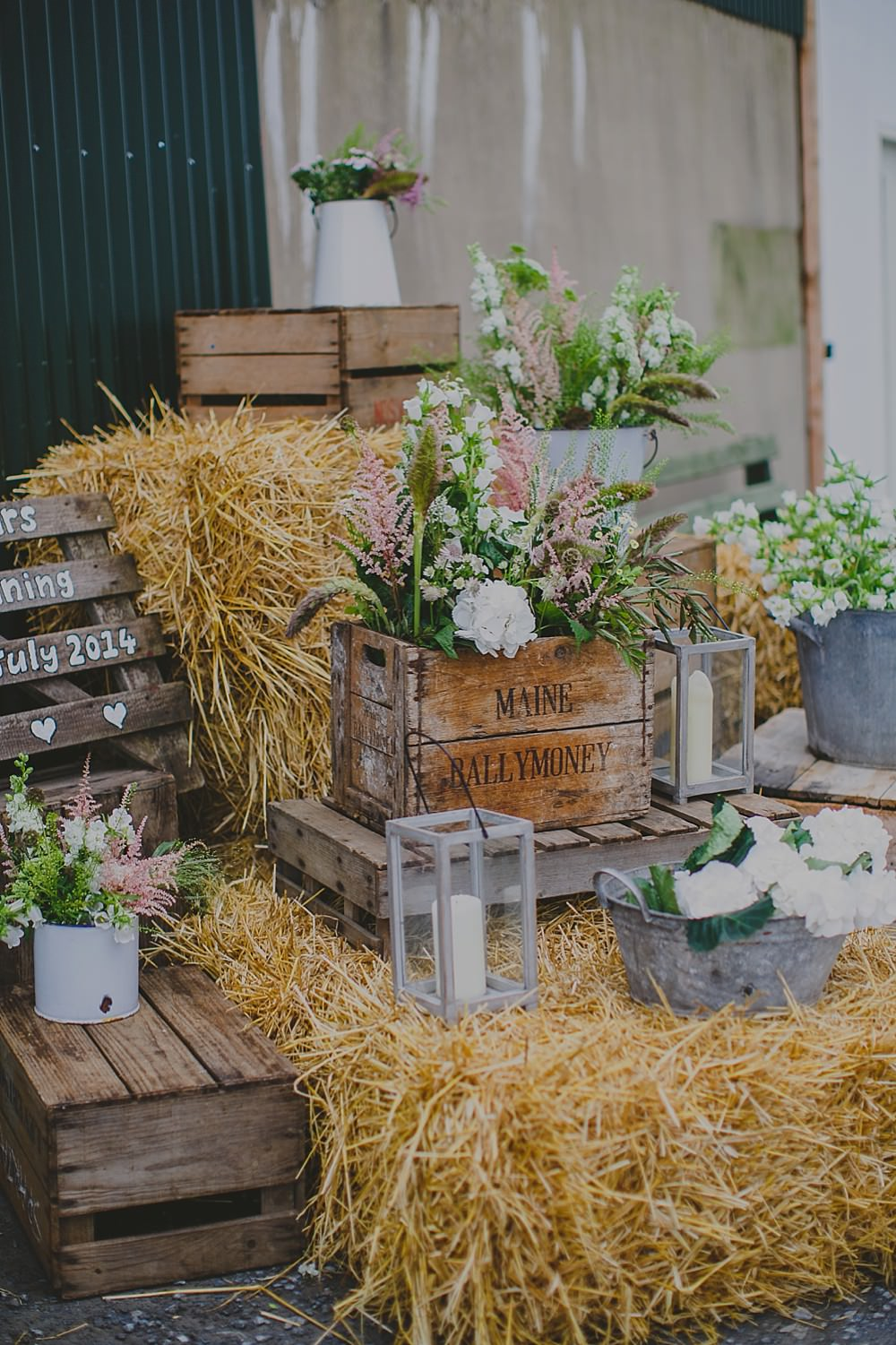 An Irish rustic barn wedding with pink and white colour theme and ...