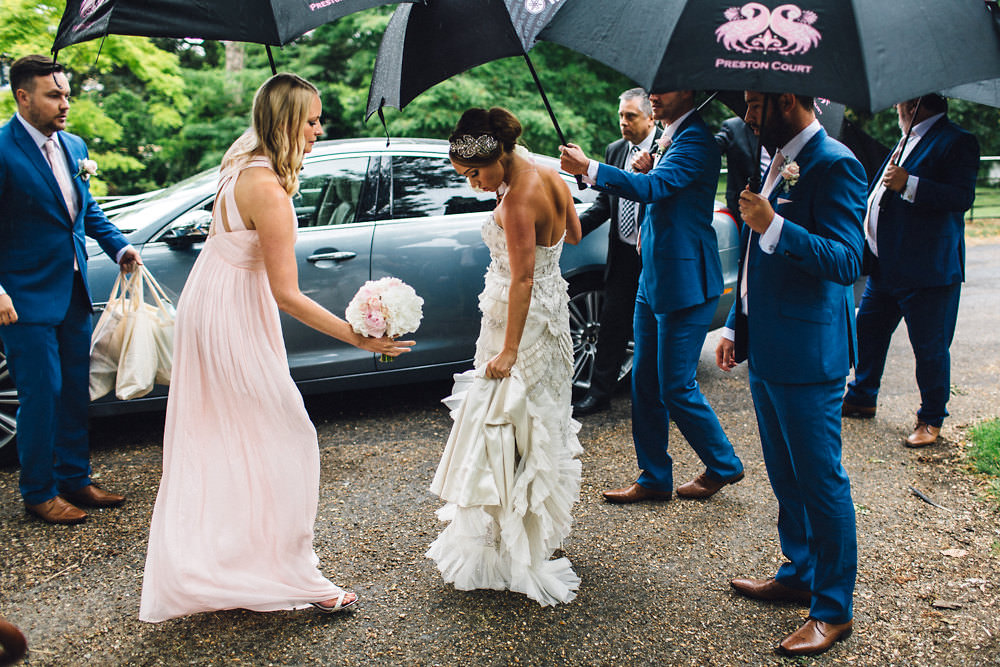 Lacey Sophia Webster Bridal Shoe Pink Bridesmaids Dresses Preston Court  Wedding Venue Red On Blonde Photography Blooming Lovely Films 254c083f6f42