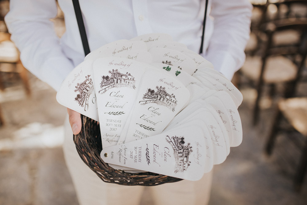 Wedding Photography Programs: Outdoor Pastel Pink & Green Destination Wedding At Agreco