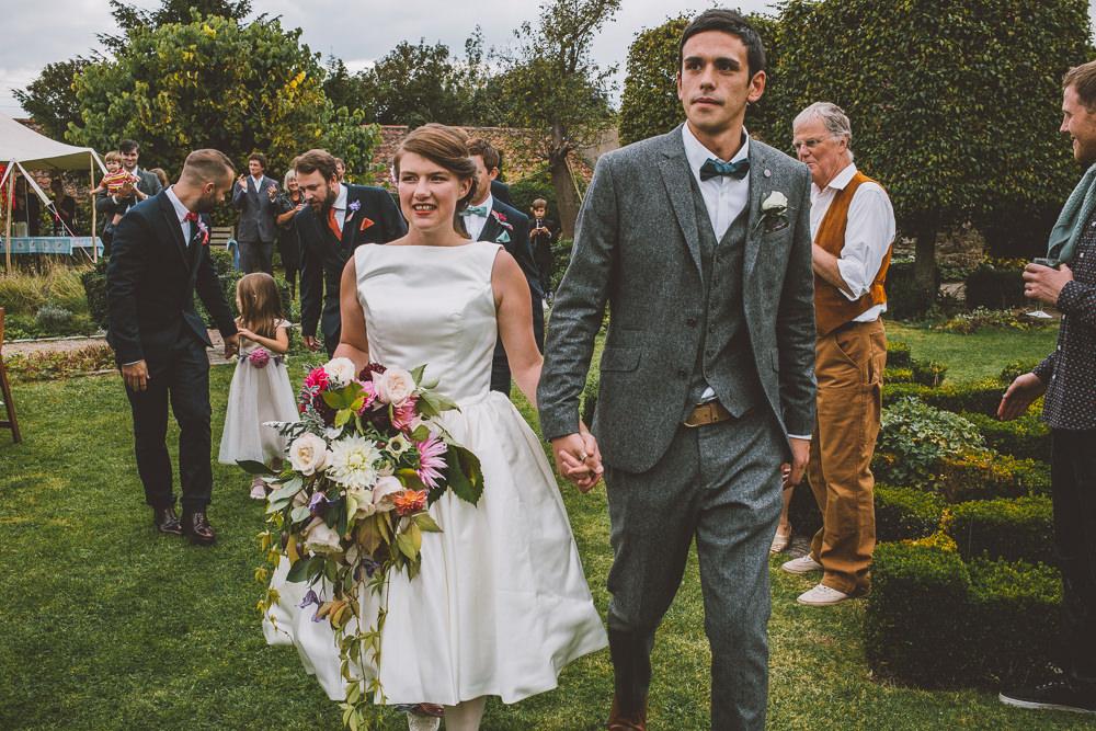 Rockabilly Style Wedding Dress For A Rustic Outdoor Wedding In ...