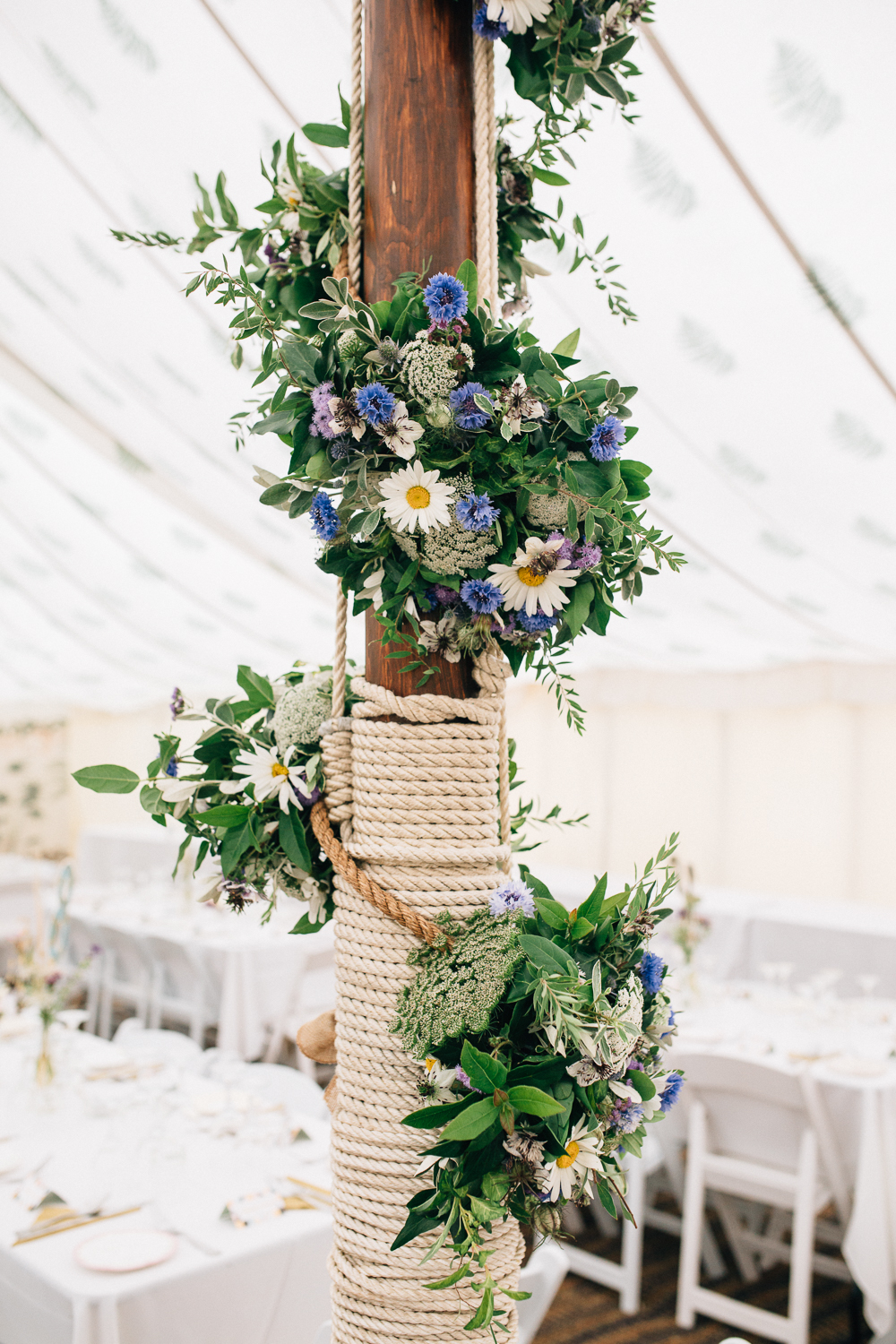 Wild Flower Wedding For A Rustic Marquee Reception At Brides Family