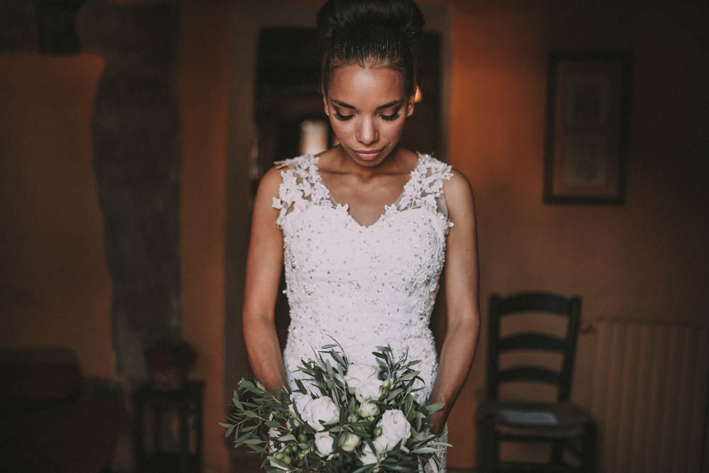 Elegant Outdoor Spanish Wedding with Olive Branches & White Florals