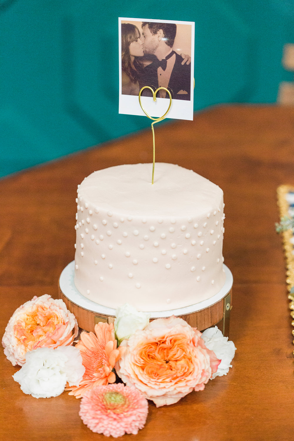 a turquoise blue  peach  u0026 gold wedding at the fig house in