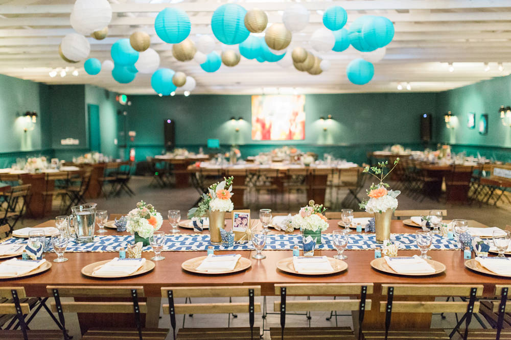 A Turquoise Blue Peach Gold Wedding At The Fig House In California