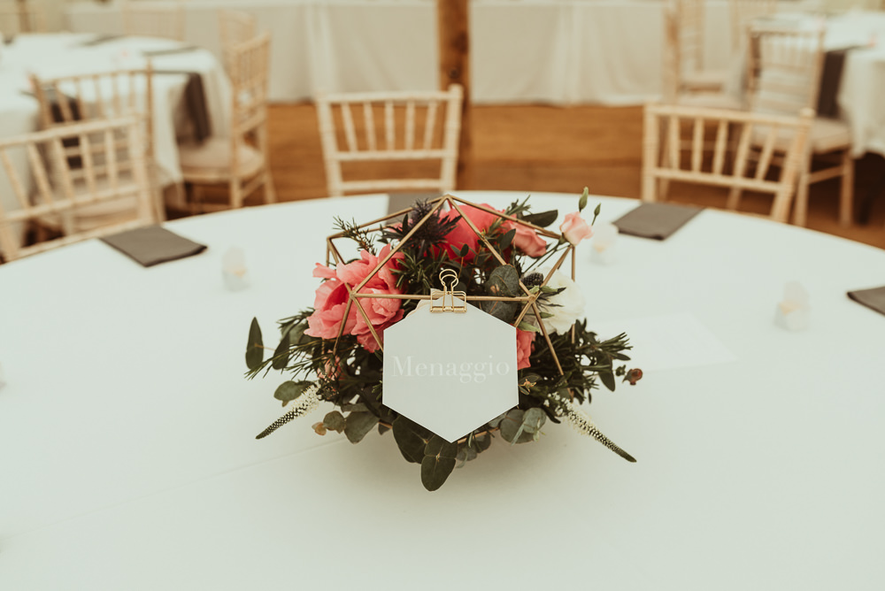 Diy Peach Gold Geometric At Home Marquee Wedding With Catherine