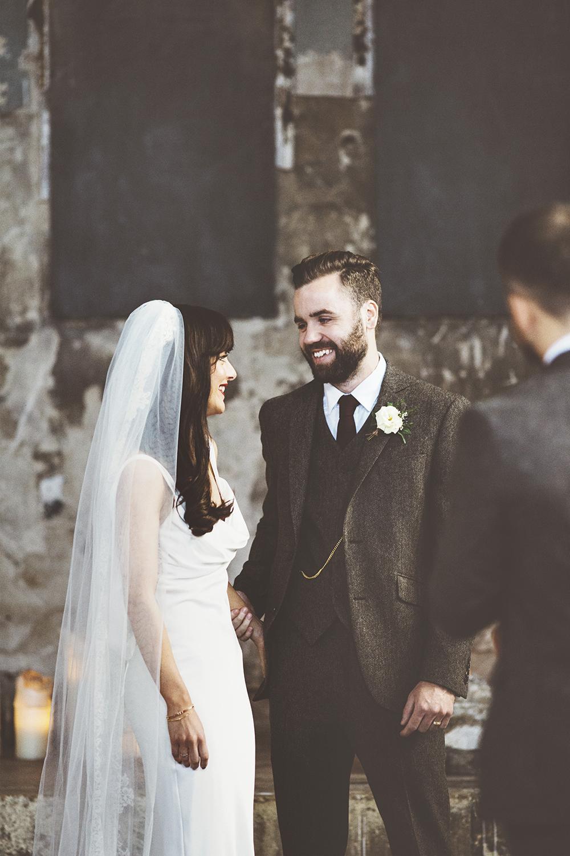 Stylish London Wedding At MC Motors With Bride In David Fielden