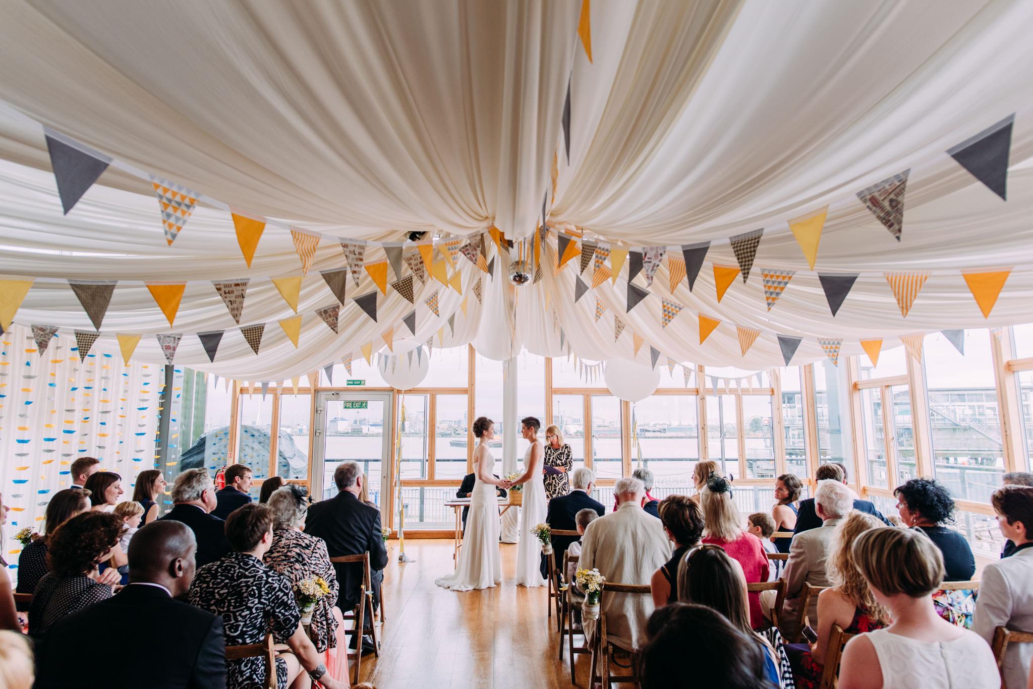 Same Sex Wedding At Greenwich Yacht Club In London With Diy Decor