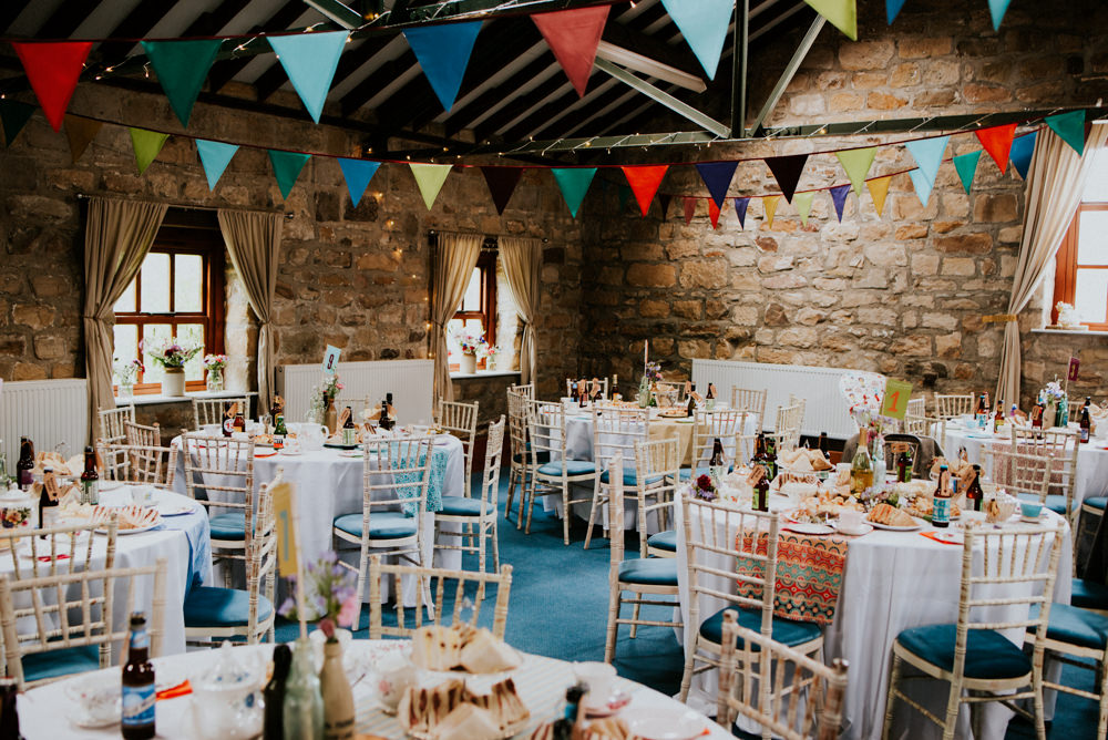 Colourful Outdoor Woodland Ceremony Barn Reception At Lineham Farm