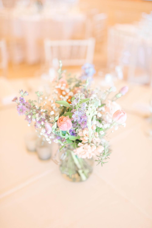 alan hannah bride hanging florals wedding brinkburn