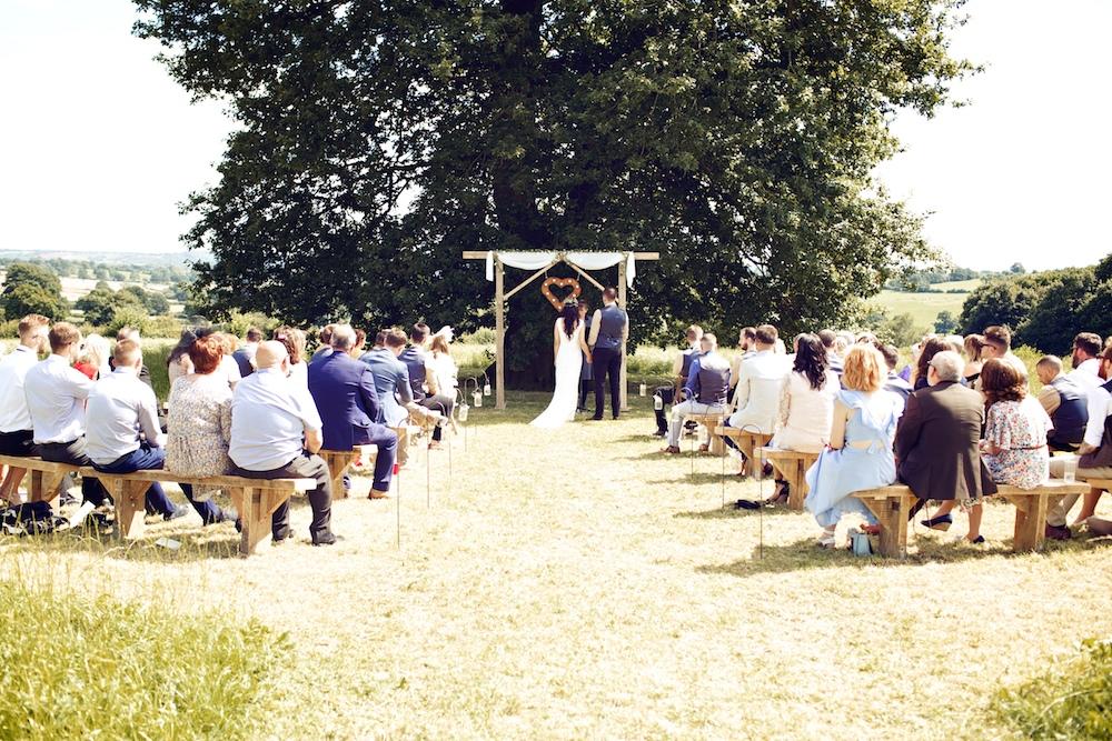 Diy outdoor wedding ceremony rustic marquee reception at wood farm outdoor wedding ceremony at wood farm vintage weddings photography junglespirit Gallery