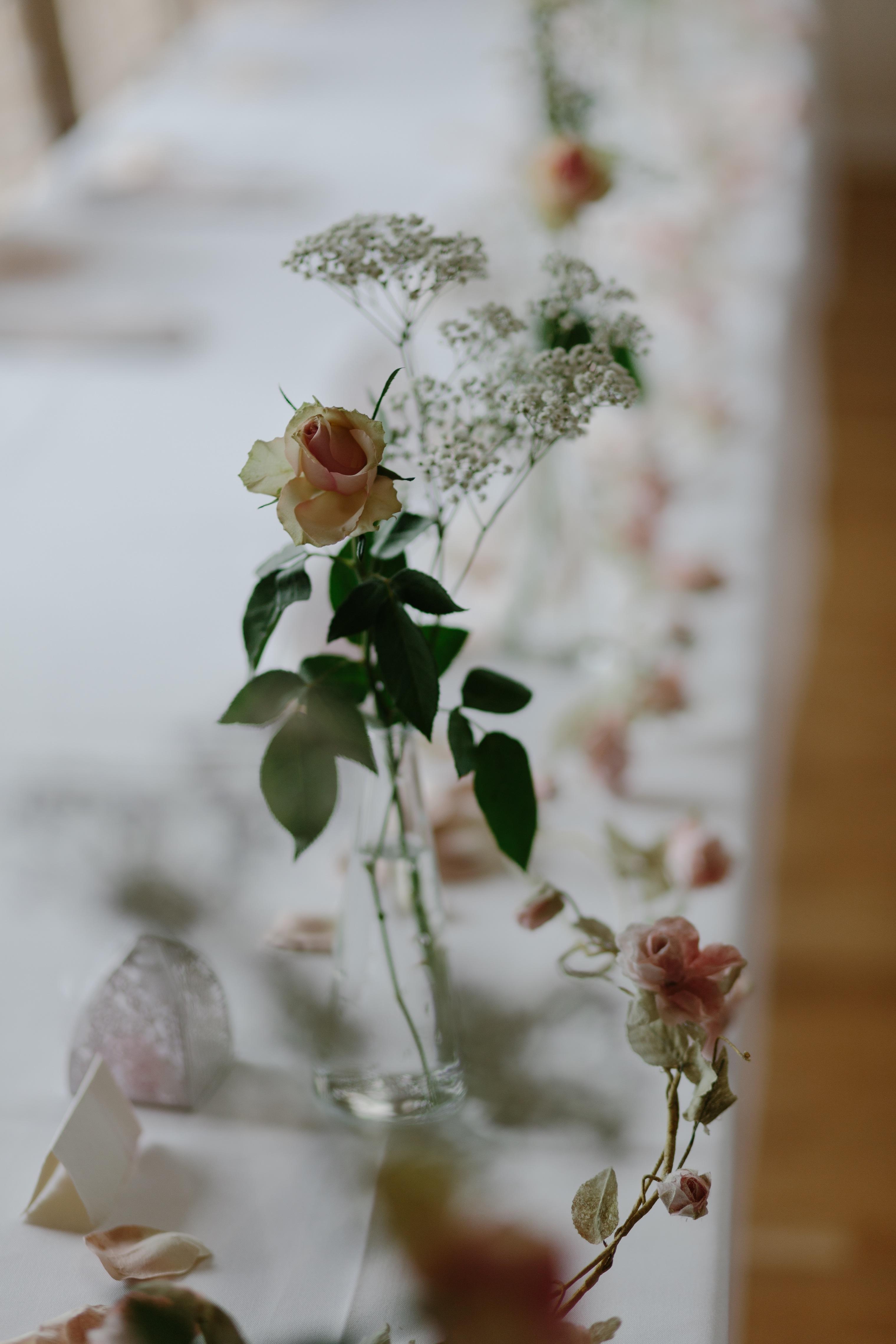Ava rose hamilton bride rustic homespun wedding at natural retreats flowers in bud vases for wedding table decor reviewsmspy