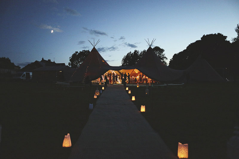 An Elegant Outdoor Wedding With Papakata Teepees And Bride In Temperley Gown With Floral Crown And By Harriet Headpiece