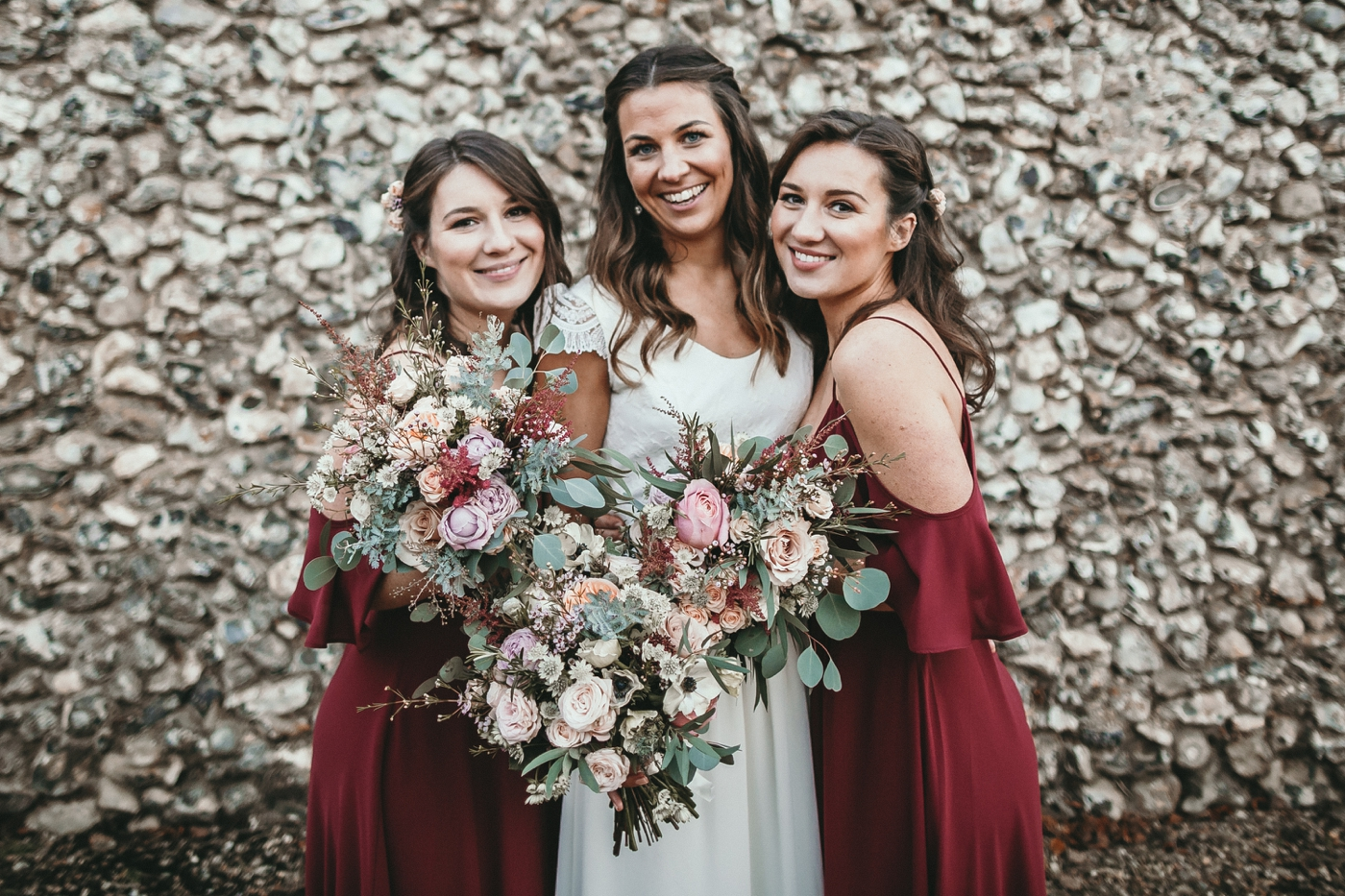 Rewritten bridesmaids dresses for a stylish wedding at sussex barn rewritten bridesmaids dresses cold shoulder bridesmaids dresses ombrellifo Images