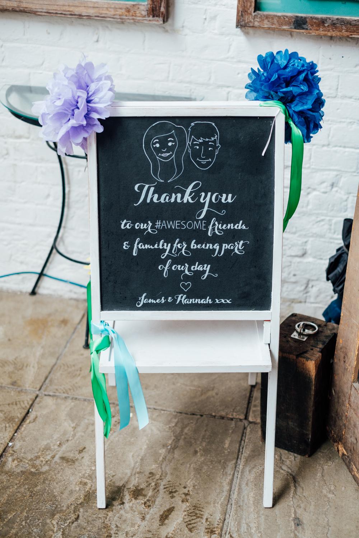 Rainbow Wedding Decor For A Contemporary Wedding At Ufton Court