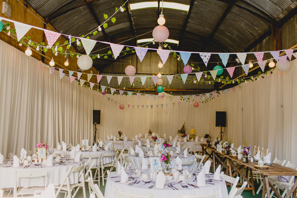 Brightly coloured wedding at breckenhill in northern ireland by navyblur bunting wedding decor navyblur photography cinematic tide films junglespirit Choice Image