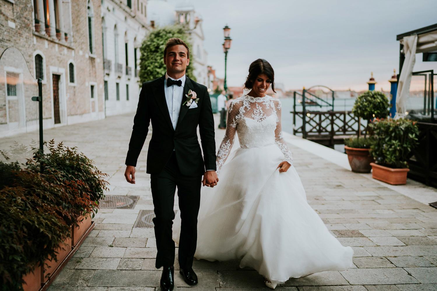 Bride In Romona Keveza Gown Groom Black Tuxedo Super Luxe Greek Wedding At: Black Suit Pink Wedding Dress At Reisefeber.org