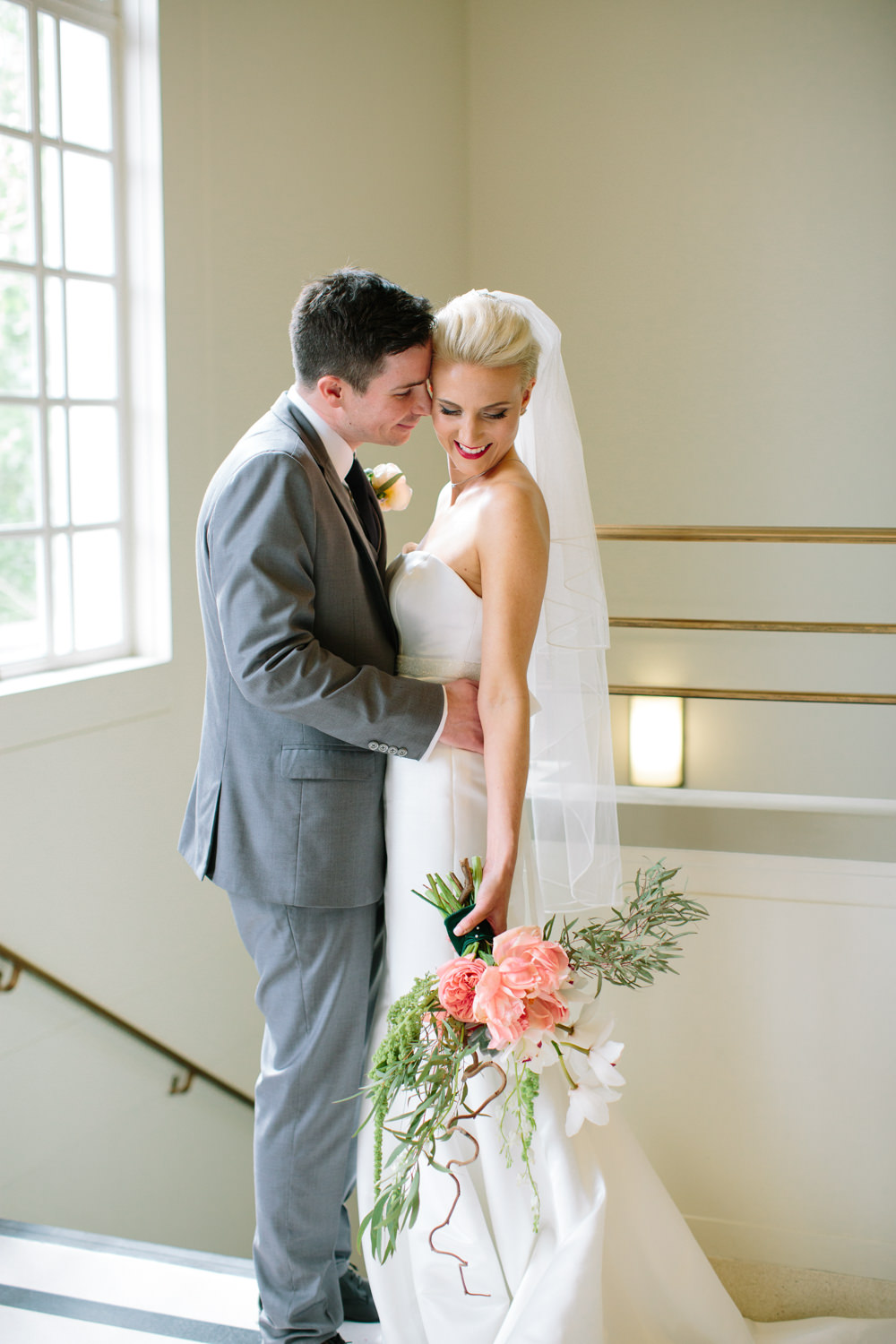 Stylish Hackney Town Hall Wedding With Copper Altar Perspex Signs