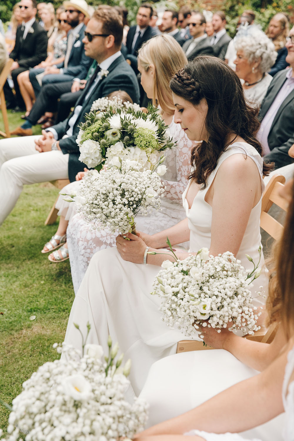 Harriet holling bridal with bridesmaids in all white bridesmaids in white by harriet holling bridal ombrellifo Choice Image
