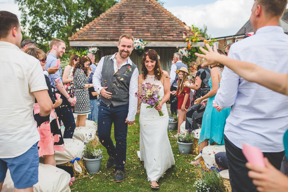 Festival Inspired DIY Wedding With Relaxed Dress Code