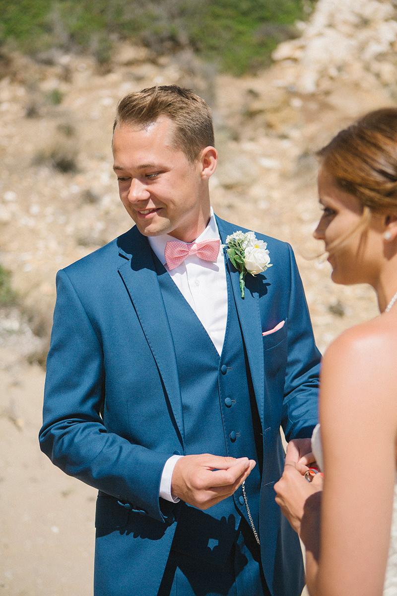 A Greek Destination Wedding On Tzamaria Beach In iOS With A Enzoani ...