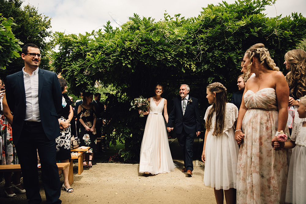 Catherine Deane Tamsin Gown for a Rustic Wedding at The Tythe Barn