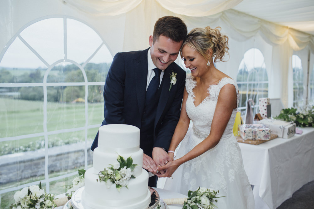 All White Classic Marquee Reception at Buckhurst Park with Angel ...