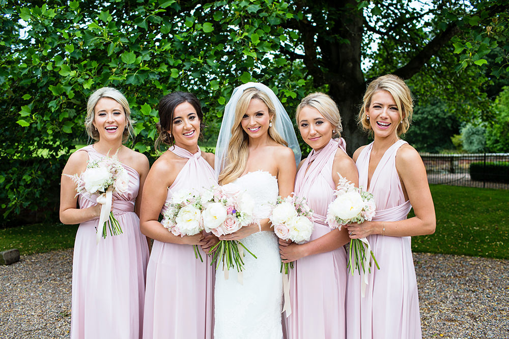 369b92b9ed10 Romantic Blush Pink Wedding at Iscoyd Park with Pronovias Bridal Gown