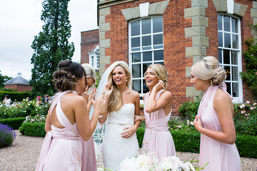 Romantic Blush Pink Wedding at Iscoyd Park with Pronovias Bridal Gown
