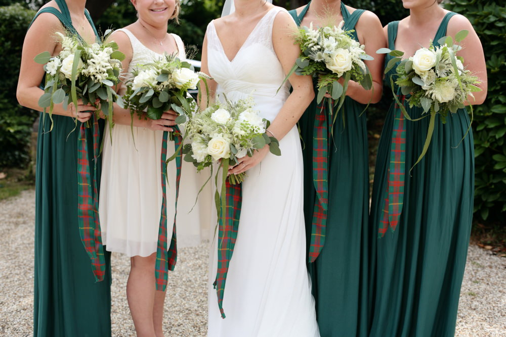 Rustic Wedding With Tartan Accents And Bride In Elegant