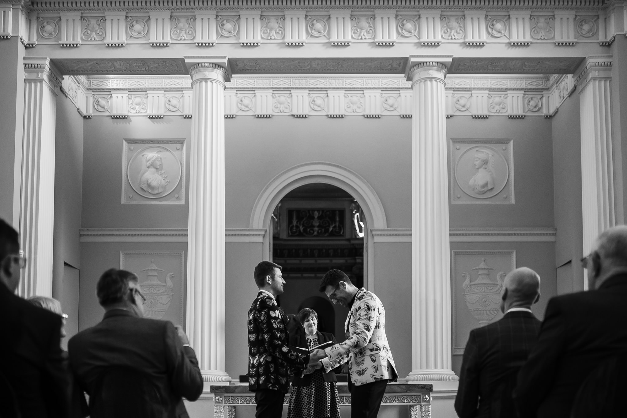 Monochrome Wedding At Syon Park With Concrette Cake Two Grooms In