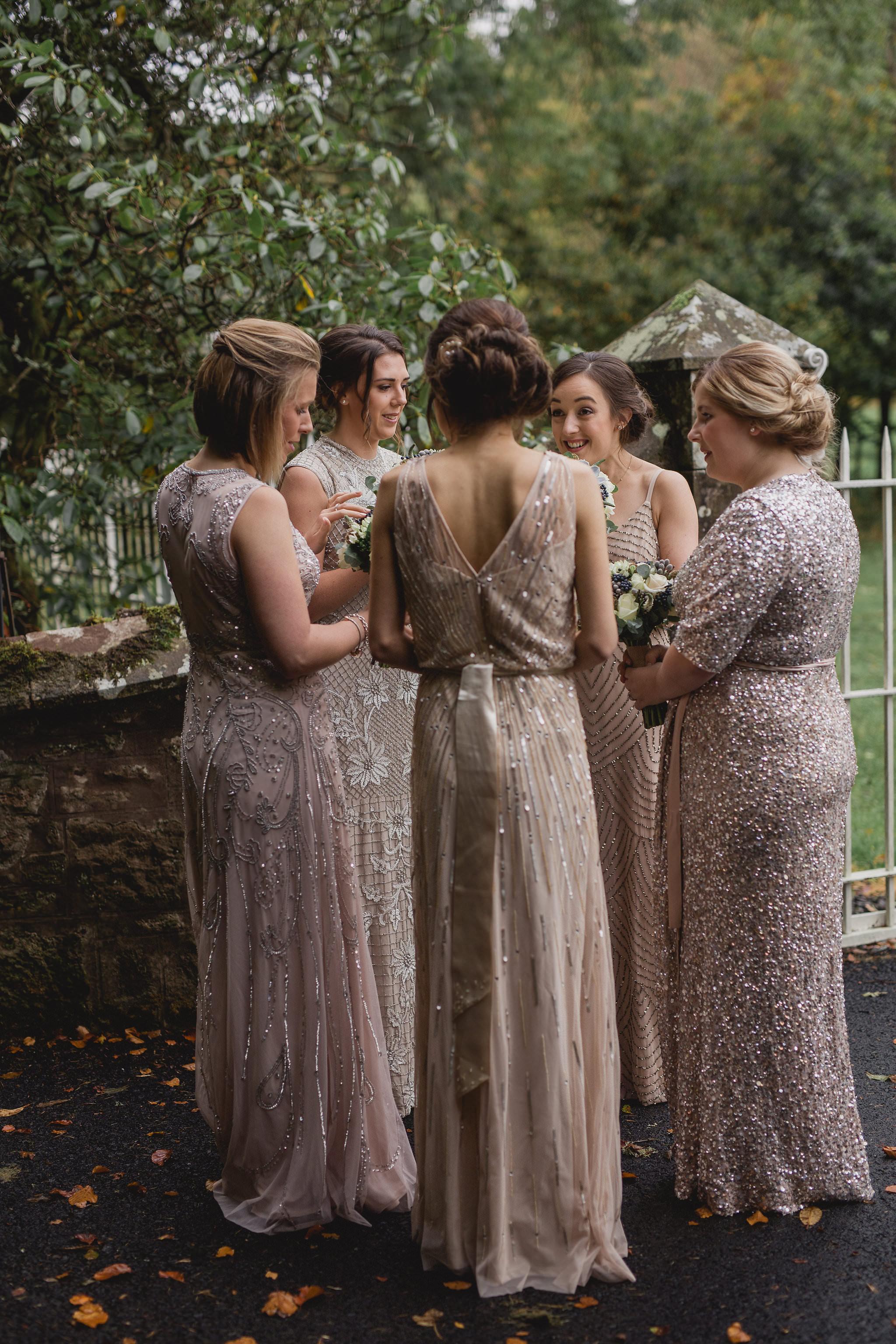 Fairytale Wedding at Drumtochty Castle, Scotland with Ian Stuart Gown