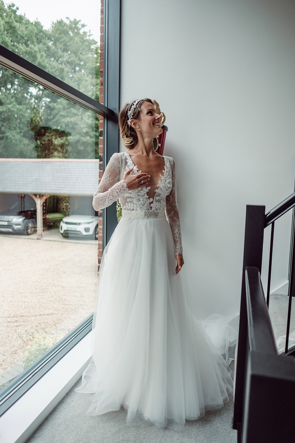 Rustic at home tipi wedding with blush colour scheme needle bride in anna georgina wedding gown augusta jones tulle skirt traditional church wedding ceremony ombrellifo Image collections