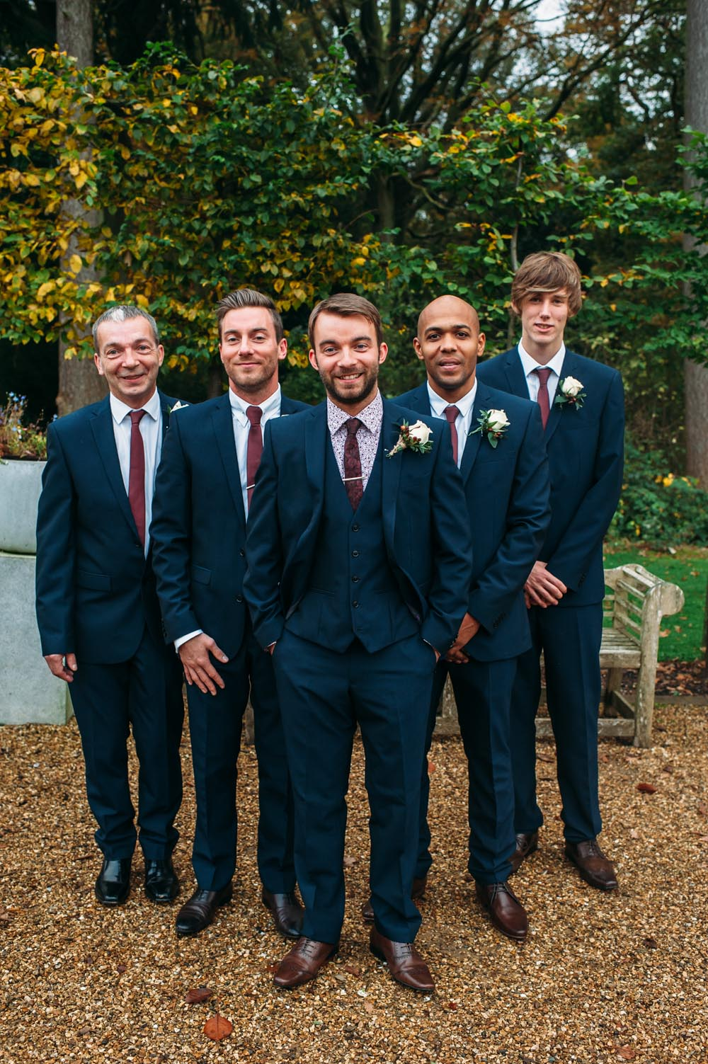 Autumnal rustic themed wedding with Navy, Maroon & Gold Colour ...