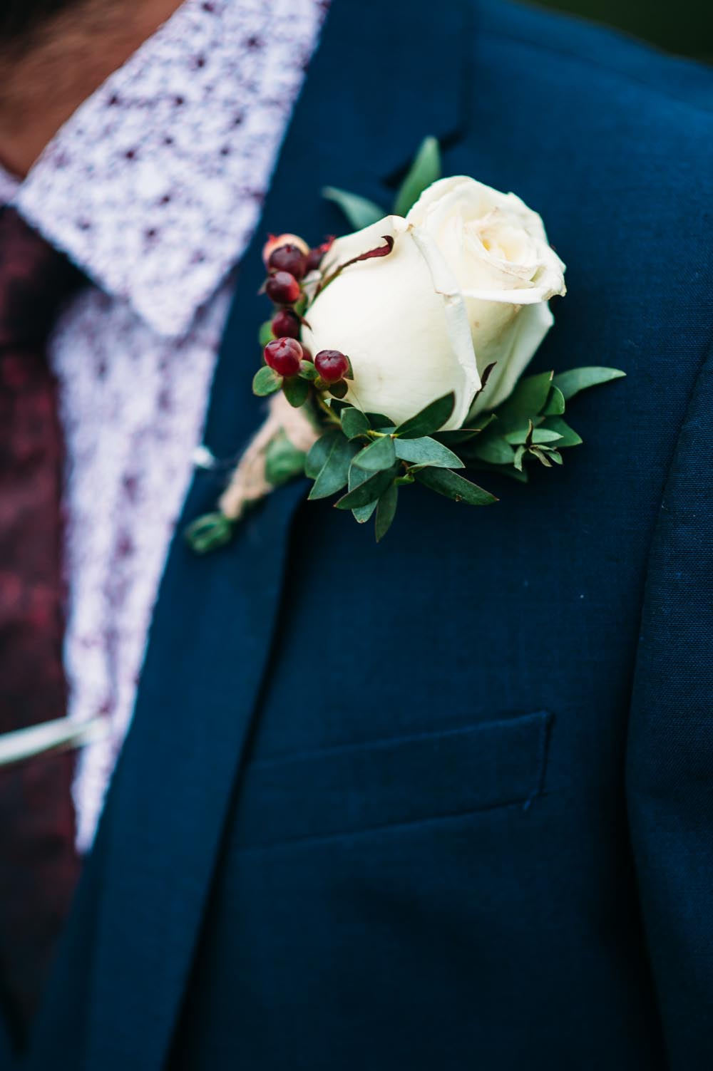Autumnal Rustic Themed Wedding With Navy Maroon Gold Colour