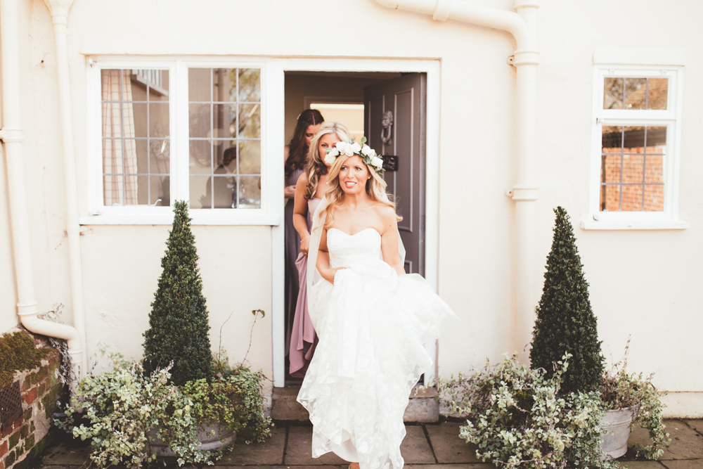 Romantic Peach Wedding at Houchins with Kate Halfpenny London Bridal ...