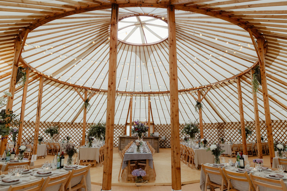 Catherine deane omelia gown for a rustic yurt reception with purple images by a solutioingenieria Image collections