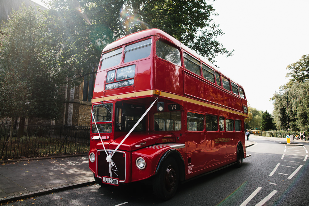 Red Double Decker Bus Wedding Transport
