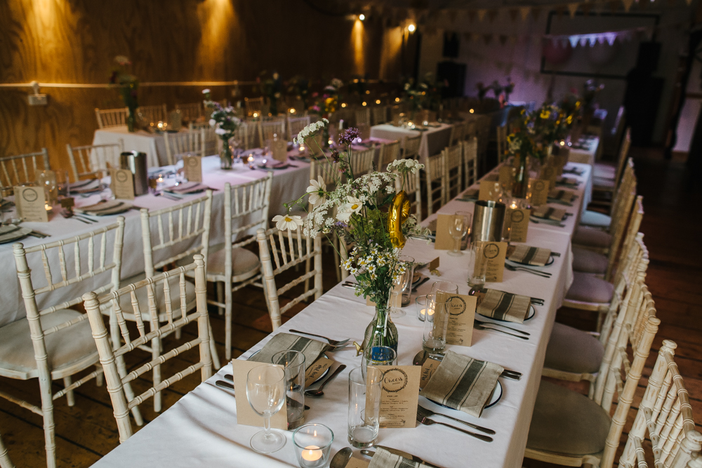 Stylish city wedding at london fields brewery with blush ombre dress rustic table scape junglespirit Choice Image